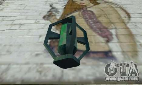 Greengoo alien liquid grenades para GTA San Andreas segunda pantalla