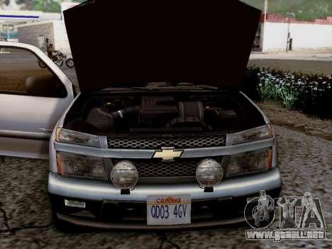 Chevrolet Colorado para GTA San Andreas vista hacia atrás