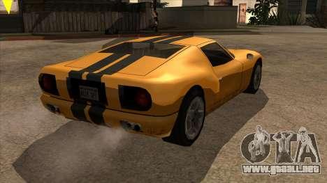 Bullet Restyle para GTA San Andreas vista posterior izquierda