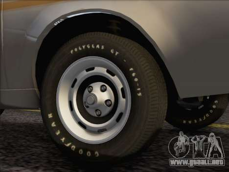 AMC Gremlin X 1973 para GTA San Andreas vista posterior izquierda