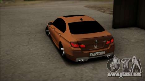 BMW M5 F10 para la vista superior GTA San Andreas