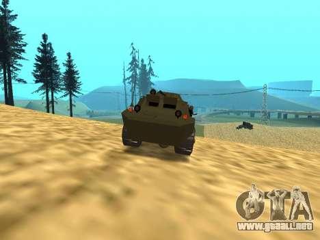Los guardias de BRDM-2 para vista lateral GTA San Andreas