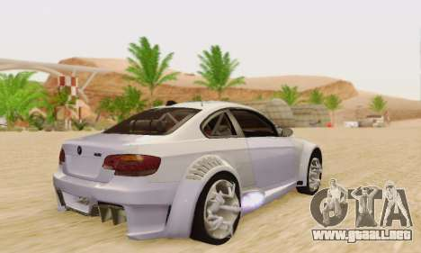 BMW M3 E92 SHD Tuning para la visión correcta GTA San Andreas