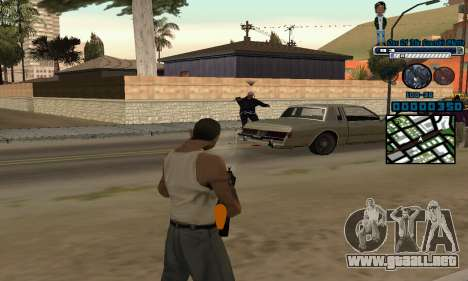C-HUD One Of The Legends Ghetto para GTA San Andreas tercera pantalla