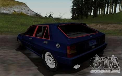 Lancia Delta HF Integrale Evo2 para GTA San Andreas vista posterior izquierda