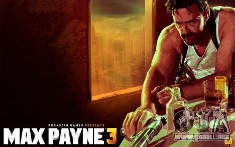 Inicio pantallas de Max Payne 3 HD para GTA San Andreas tercera pantalla