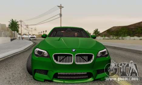 BMW F10 M5 2012 Stock para vista inferior GTA San Andreas