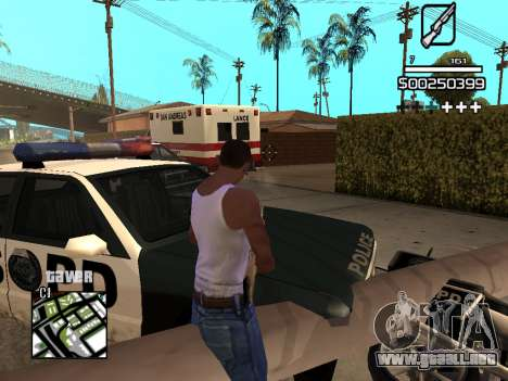 C-HUD By Kapo para GTA San Andreas novena de pantalla