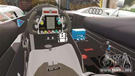 Audi R10 ADT 2008 para GTA 4 vista interior