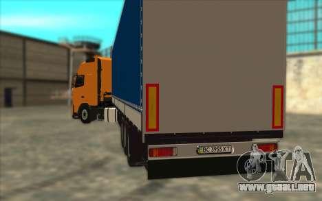 Trailer KRONE para GTA San Andreas vista posterior izquierda