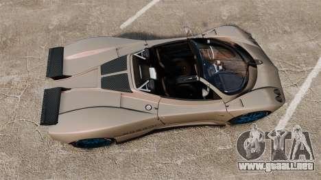 Pagani Zonda C12 S Roadster 2001 PJ1 para GTA 4 visión correcta