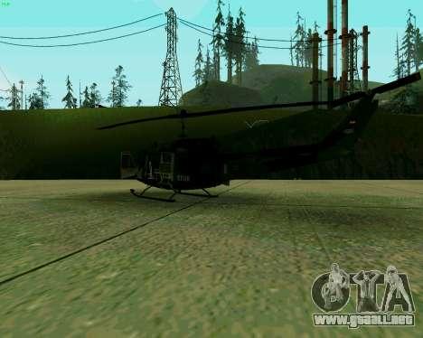 UH-1D Huey para la visión correcta GTA San Andreas