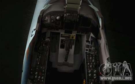 F-5E Tiger II para GTA San Andreas vista hacia atrás