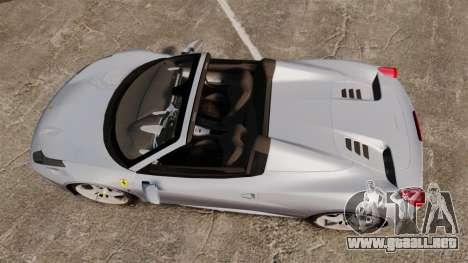 Ferrari 458 Spider para GTA 4 visión correcta