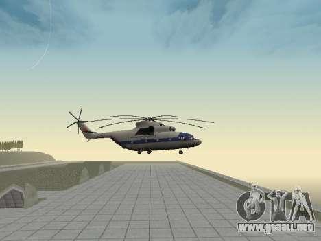 Mi 26 Civil para GTA San Andreas vista hacia atrás