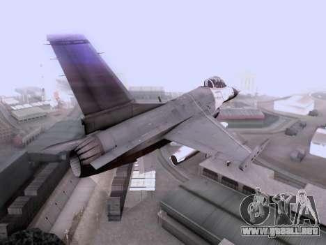 F-16 A para GTA San Andreas left