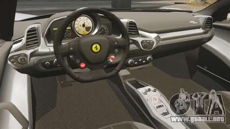 Ferrari 458 Spider para GTA 4 vista hacia atrás