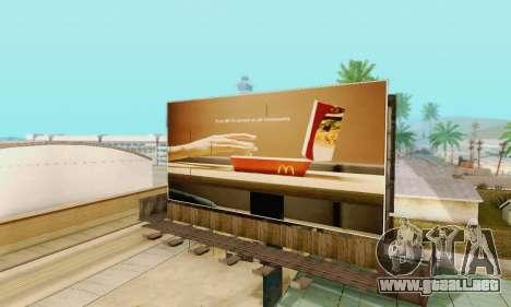 Nuevo de alta calidad de la publicidad en los ca para GTA San Andreas twelth pantalla
