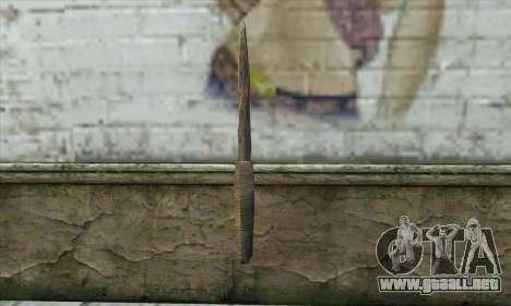 El cuchillo de Skyrim para GTA San Andreas