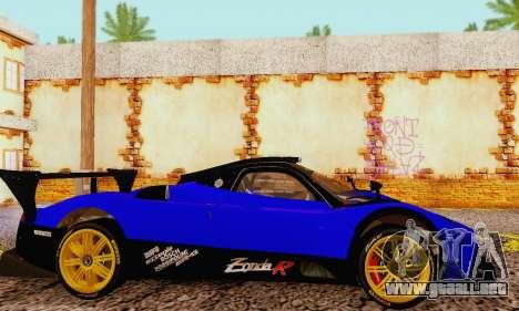 Pagani Zonda Type R Blue para la visión correcta GTA San Andreas