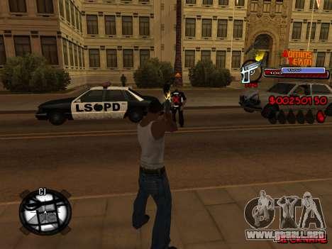 C-HUD Admins Team para GTA San Andreas octavo de pantalla