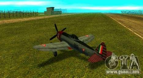 P-47 Thunderbolt para GTA San Andreas left