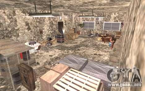 El sótano de la casa de Carl para GTA San Andreas sucesivamente de pantalla