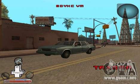 Hermosa C-HUD para GTA San Andreas sucesivamente de pantalla