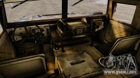 HMMWV M1114 Freedom para GTA 4 vista hacia atrás