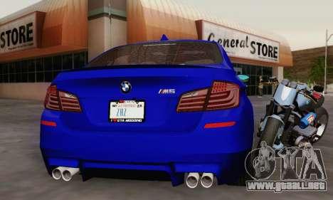 BMW F10 M5 2012 Stock para el motor de GTA San Andreas