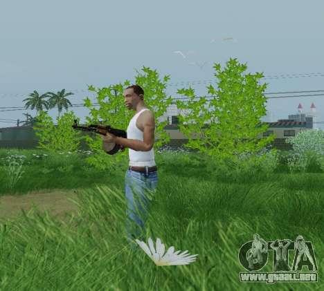 Kalashnikov Luz Ametralladora para GTA San Andreas segunda pantalla