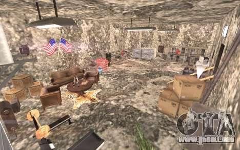 El sótano de la casa de Carl para GTA San Andreas segunda pantalla