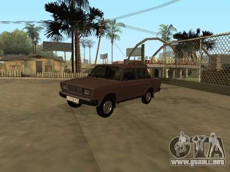 VAZ 2107 versión Temprana para la visión correcta GTA San Andreas