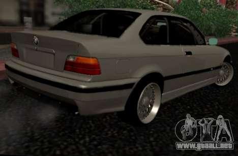 BMW M3 E36 Hellafail para GTA San Andreas vista posterior izquierda