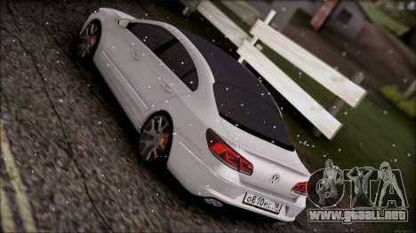 Volkswagen Passat CC para visión interna GTA San Andreas