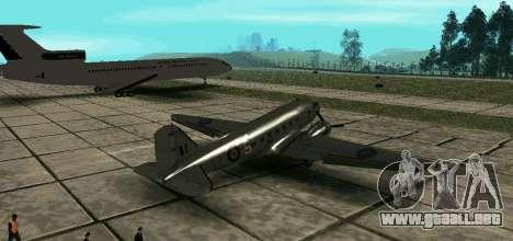 C-47 Dakota RAF para GTA San Andreas left