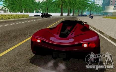 GTA 5 Grotti Turismo para GTA San Andreas vista posterior izquierda