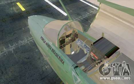 A-1M AMX para GTA San Andreas vista posterior izquierda