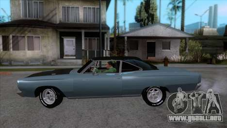 Plymouth Road RunneR 1969 para GTA San Andreas left
