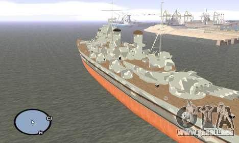 HMS Prince of Wales para GTA San Andreas tercera pantalla