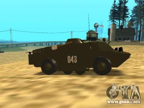 Los guardias de BRDM-2 para GTA San Andreas vista hacia atrás
