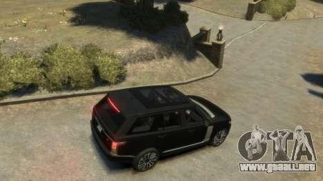 Range Rover Vogue 2014 para GTA 4 Vista posterior izquierda