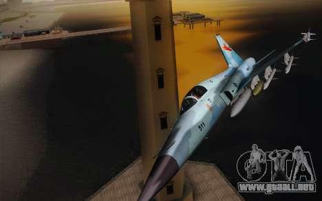 F-5E Tiger II para GTA San Andreas left