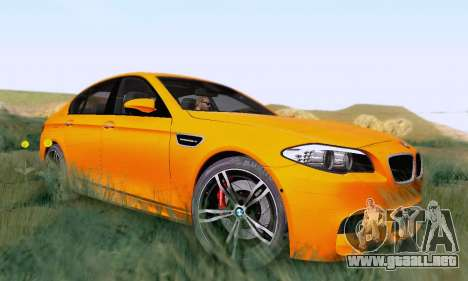 BMW F10 M5 2012 Stock para GTA San Andreas