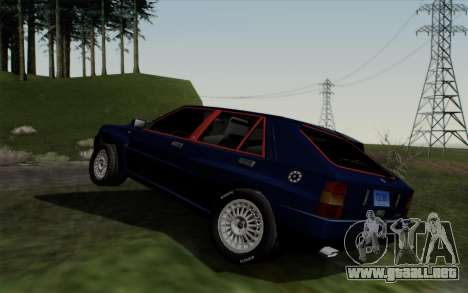 Lancia Delta HF Integrale Evo2 para la visión correcta GTA San Andreas