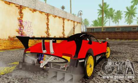 Pagani Zonda Type R Red para la visión correcta GTA San Andreas