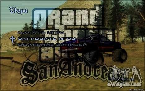 HD menús para GTA San Andreas segunda pantalla
