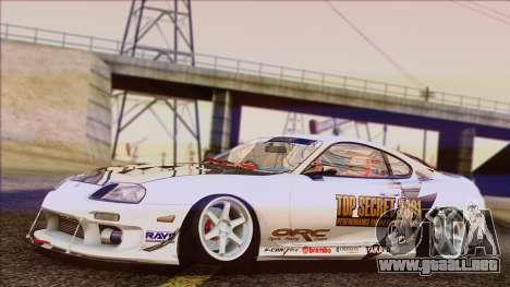 Toyota Supra 1998 Top Secret para GTA San Andreas vista posterior izquierda
