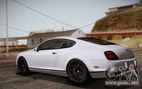 Bentley Continental SuperSports 2010 v2 Finale para GTA San Andreas left