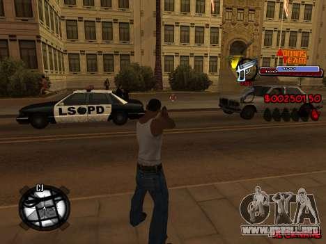C-HUD Admins Team para GTA San Andreas séptima pantalla